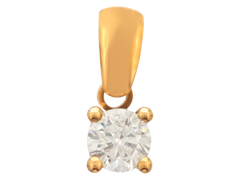 Pendentif or jaune et diamant