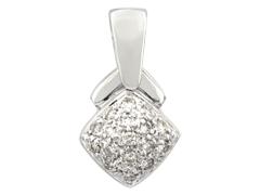 Pendentif or blanc et diamants