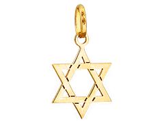 Pendentif or jaune Croix de David