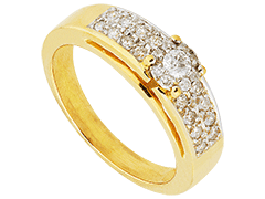 Bague or bicolore et diamants