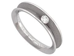 Solitaire or blanc et diamant 0.10 carat