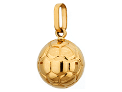Pendentif or jaune Ballon de Football
