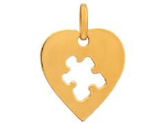 Pendentif Coeur or jaune