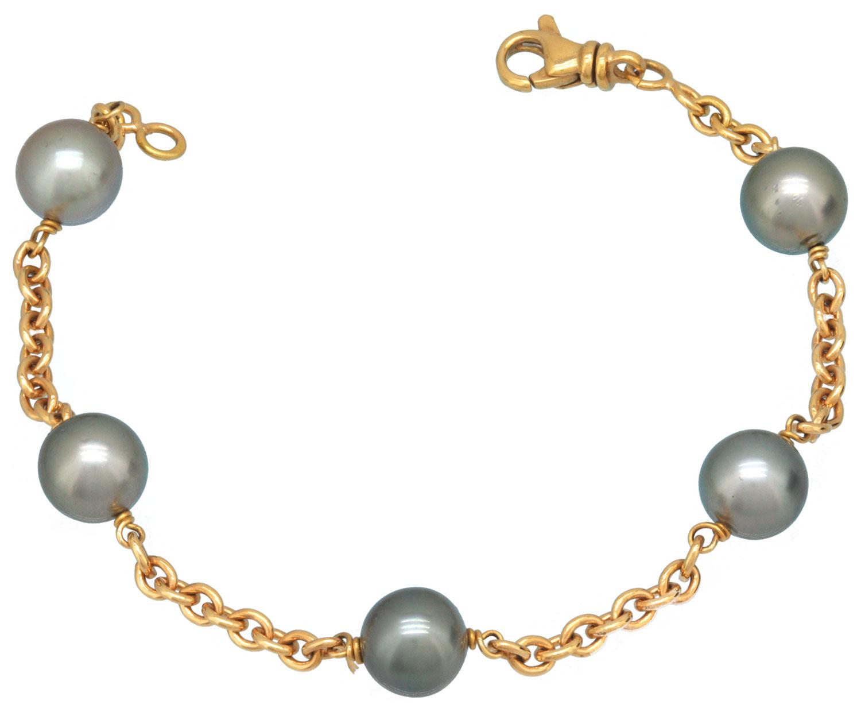 bracelet or jaune et perles de tahiti. Black Bedroom Furniture Sets. Home Design Ideas