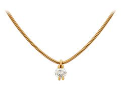 Collier or jaune et diamant 0.40 ct