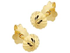 Boucles doreille or jaune