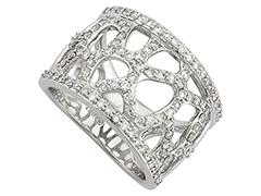 Bague or blanc et diamants 1.00 carat