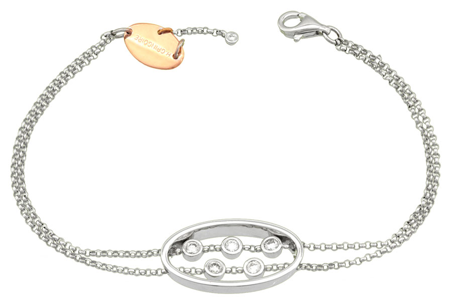 Bracelet or bicolore et diamants