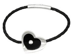 Bracelet H. Gringoire argent et onyx