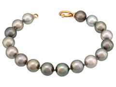 Bracelet perles de Tahiti et or jaune