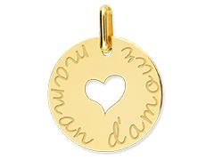 Médaille or jaune Coeur