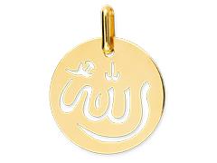 Médaille or jaune 9K Allah