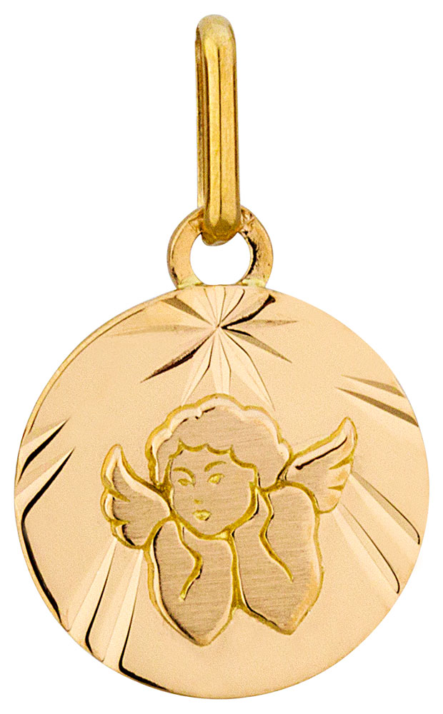 Médaille or jaune Ange