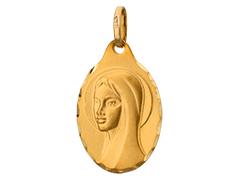 Médaille or jaune 9K Vierge