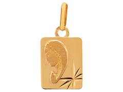 Médaille Vierge or jaune
