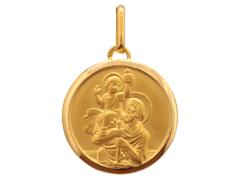 Médaille Saint Christophe or jaune