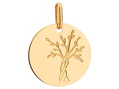 Médaille or jaune 9K Arbre de Vie