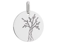 Médaille or blanc Arbre de Vie