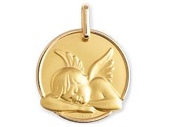 Médaille or jaune 9K Ange