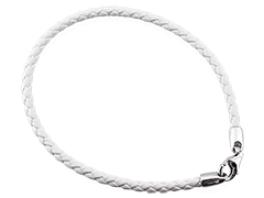 Bracelet porte-charms cuir blanc