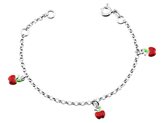 Bracelet argent rhodié Pomme