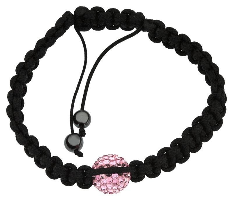 Bracelet Shamballa hématites et oxydes roses