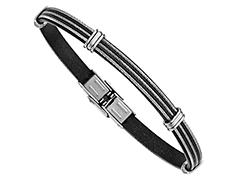 Bracelet acier et résine noire