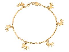 Bracelet plaqué or Cheval