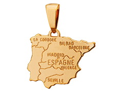 Pendentif plaqué or Espagne
