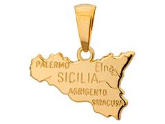 Pendentif plaqué or Sicile