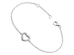 Bracelet argent et oxydes Coeur