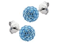 Boucles doreille argent et pierres bleues