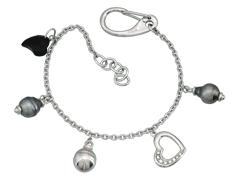 Bracelet Rambaud argent et perle de Tahiti