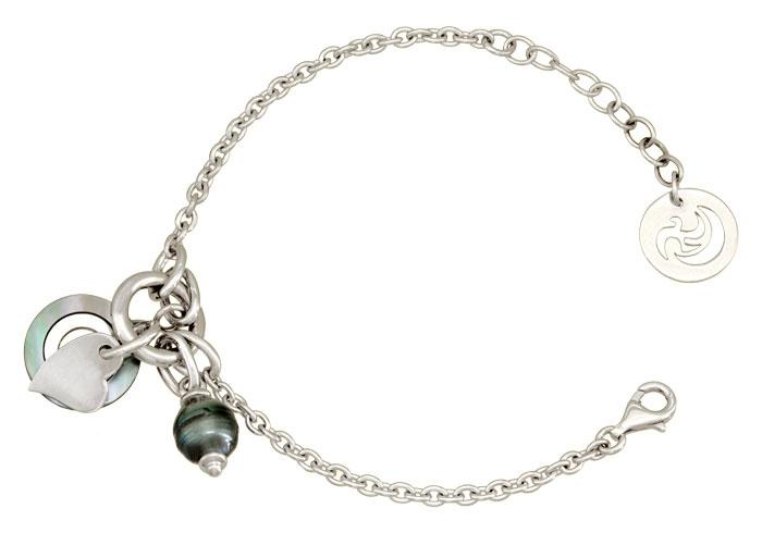 Bracelet argent et perle de Tahiti