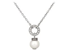 Collier argent, perle deau douce et oxydes