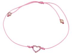 Bracelet O Fée or rose et saphirs