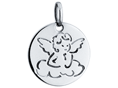 Médaille or blanc Ange