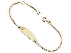 Bracelet identité or jaune