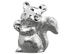 Tirelire métal argenté Ecureuil