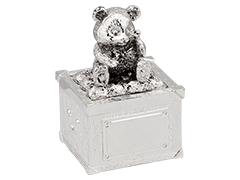 Boîte à dent métal argenté Ourson