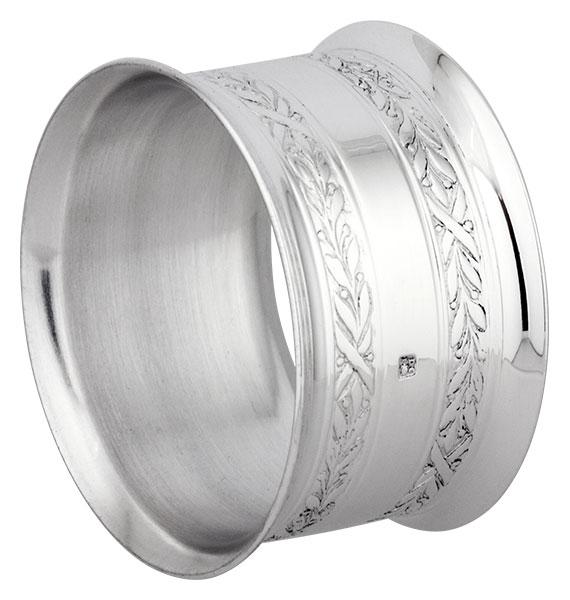Rond de serviette métal argenté Malmaison
