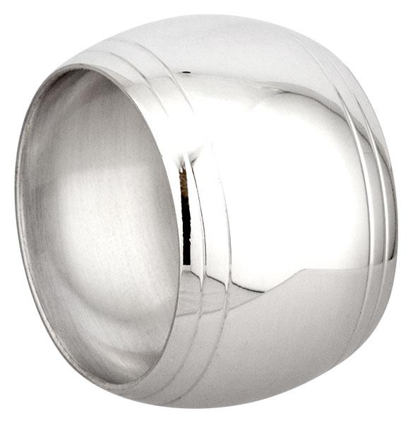 Rond de serviette métal argenté Tonneau Filet