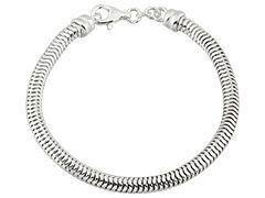Bracelet argent maille serpentine 21 cm