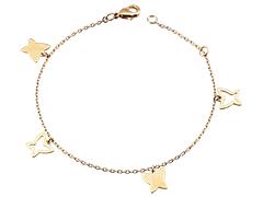 Bracelet plaqué or Papillons
