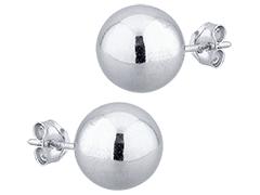 Boucles doreille argent Boule 10 mm
