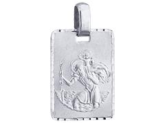 Médaille argent Saint Christophe