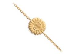 Bracelet plaqué or Tournesol