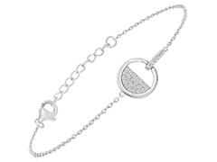 Bracelet argent rhodié et oxydes