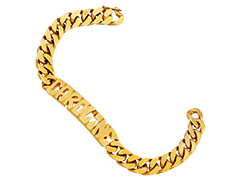 Bracelet identité plaqué or Caroline