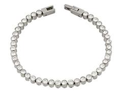 Bracelet acier et cristaux de Swarovski